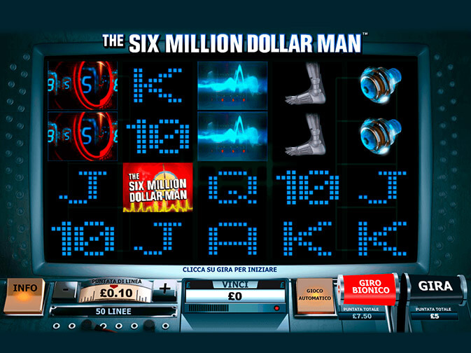 Six Million Dollar Man Slot